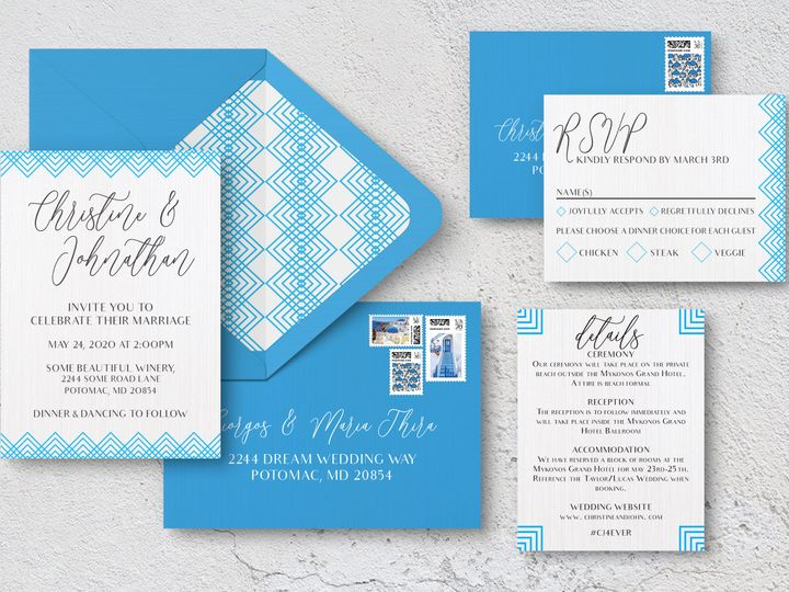 Tmx Entire Suiteenvelopes 51 1994279 160347976976632 Rockville, MD wedding invitation