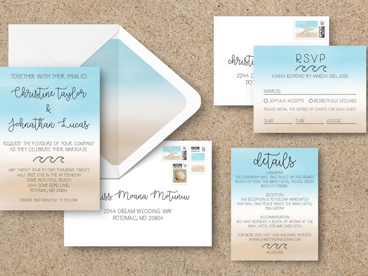 Tmx Entire Suiteenvelopes 51 1994279 160347978659251 Rockville, MD wedding invitation
