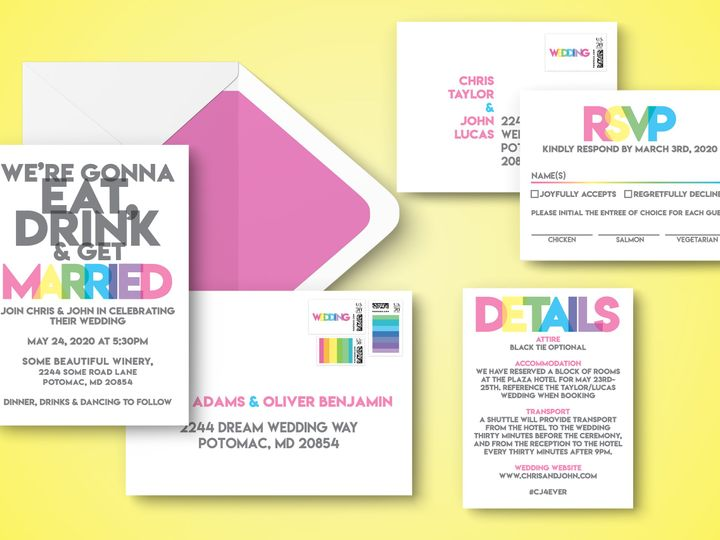 Tmx Entire Suiteenvelopes 51 1994279 160347979818422 Rockville, MD wedding invitation