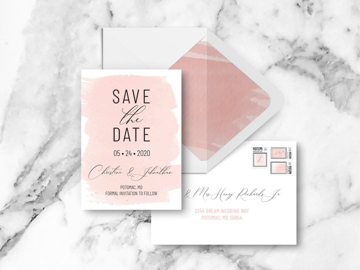 Tmx Saveenvelopes 51 1994279 160348053490637 Rockville, MD wedding invitation