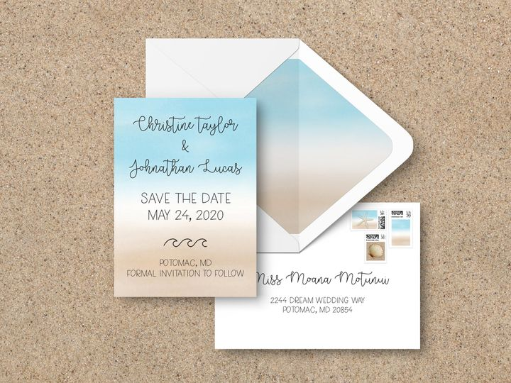 Tmx Saveenvelopes 51 1994279 160348108681797 Rockville, MD wedding invitation