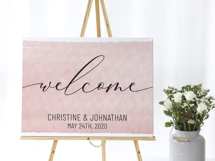 Tmx Welcome Sign Copy 51 1994279 160348054394461 Rockville, MD wedding invitation