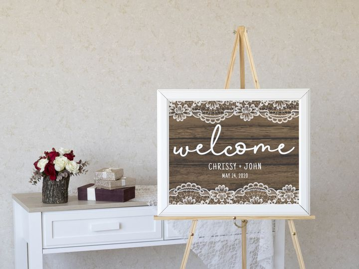 Tmx Welcome Sign Copy 51 1994279 160348081919480 Rockville, MD wedding invitation