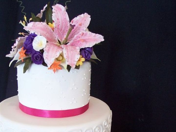 Tmx 1268593990929 Weddcake1 Lebanon, Pennsylvania wedding cake