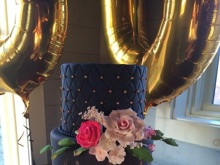 Tmx 1509986849850 Black And Gold Lebanon, Pennsylvania wedding cake