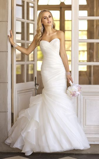 Sleek wedding gown