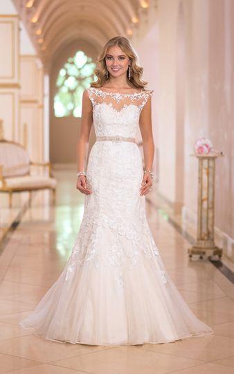 Lace upper wedding dress