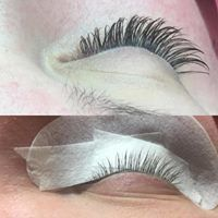 Before and after lash extension