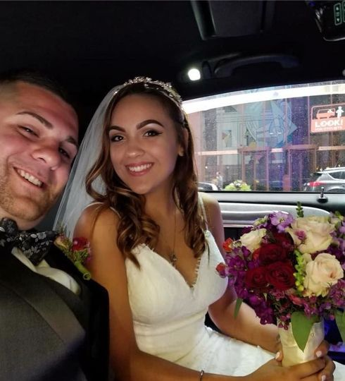 Couple photo in the car