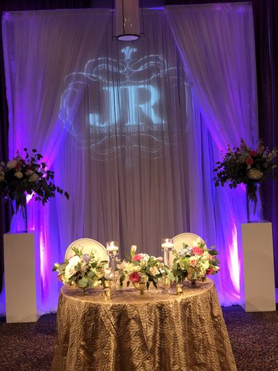 Gobo and draping