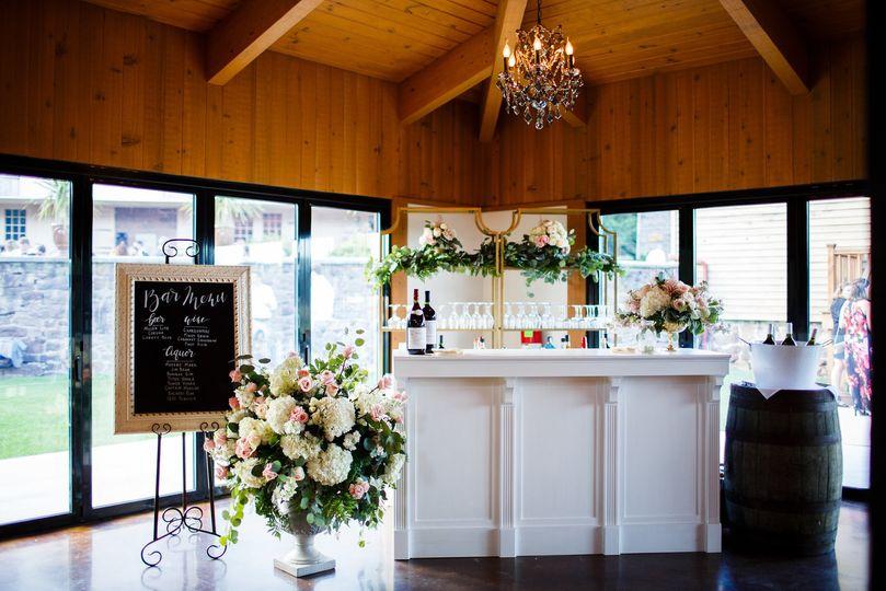 Elegant cocktail bar
