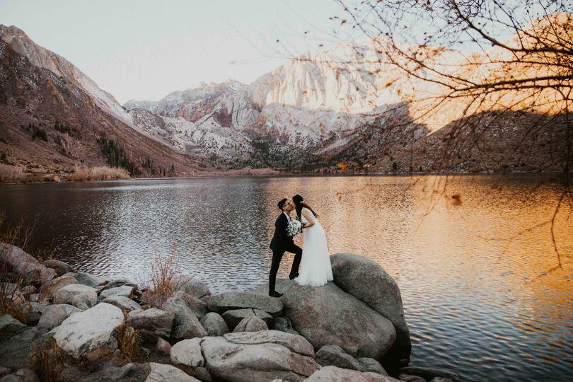 Sunrise lovers at Convict Lake