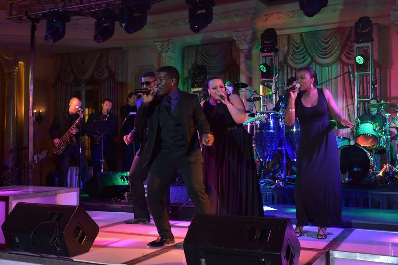 The Groove Shop performing onstage