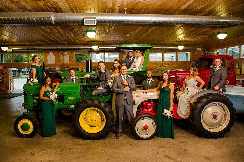 Bridal party at Francis Farm