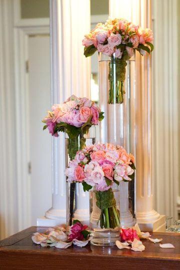 Brides maids bouquets repourposed