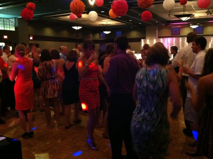 A packed dance floor