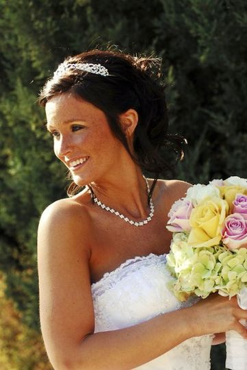 It's not hard to get a bride to smile!