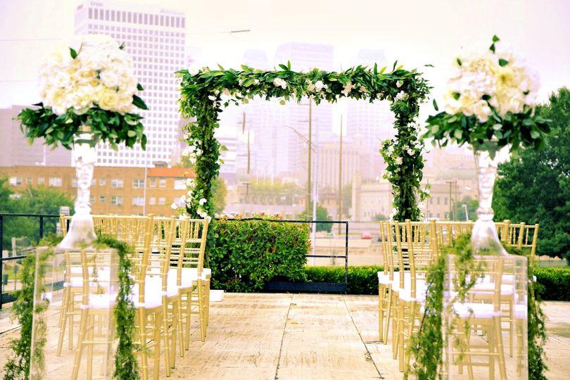 Ceremony greenery
