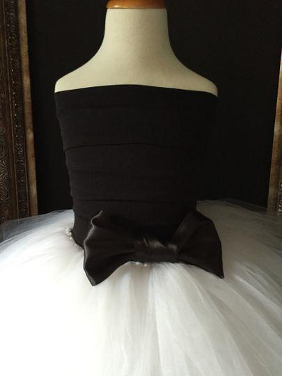 black rhinestone dress with bow