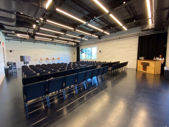Walker Rehearsal Room with chairs set