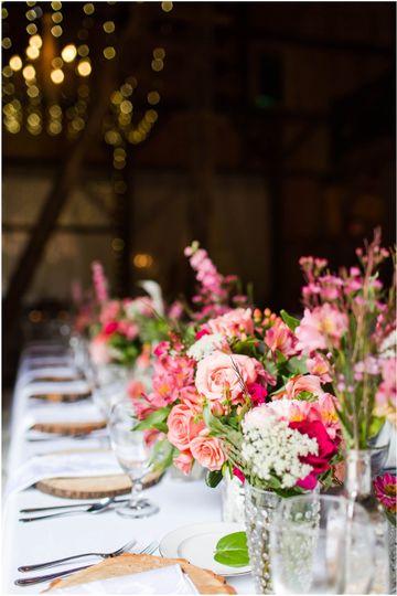 Coral Ombre Rivercrest Wedding