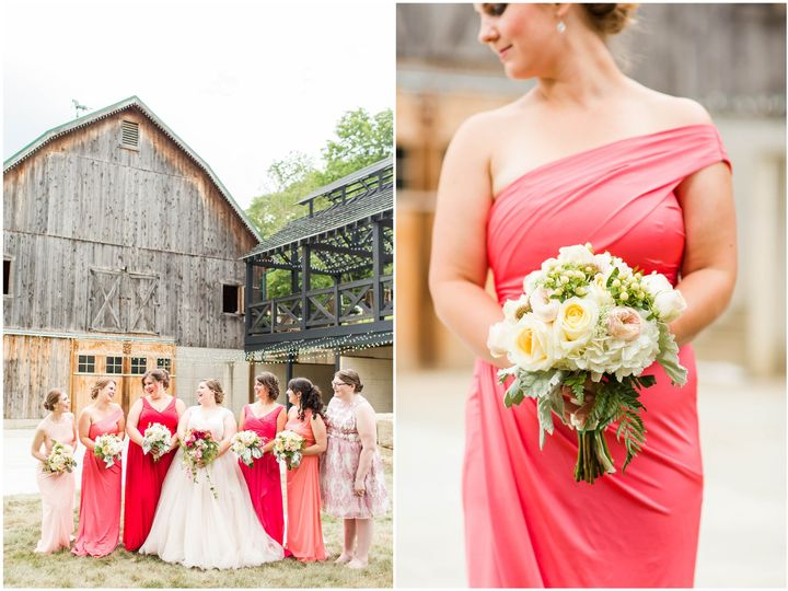 Coral Ombre Rivercrest Wedding