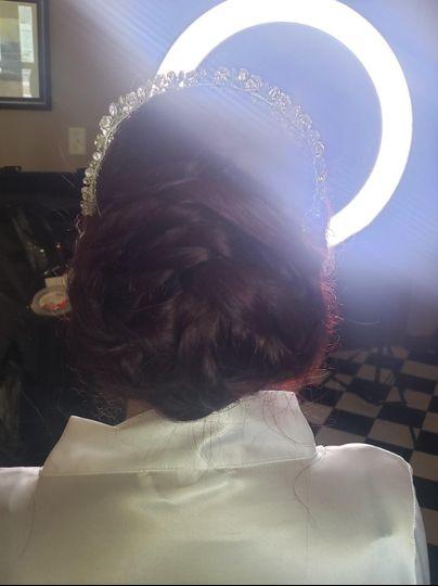 Bride's updo