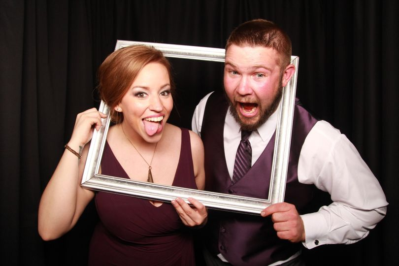 Couple's portrait with frame props