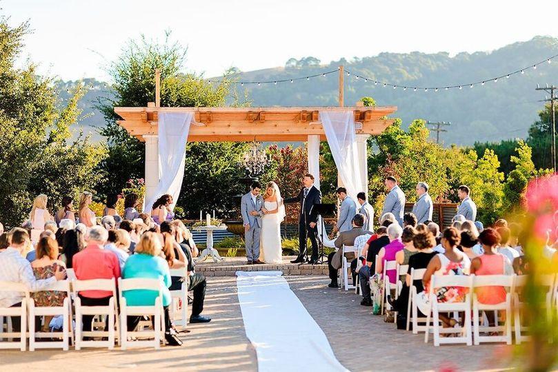 Ceremony patio