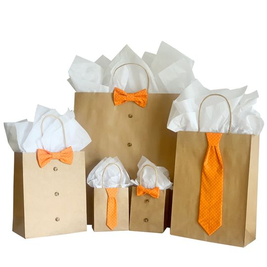Orange Polka Dot 5 Pc Gift Kit