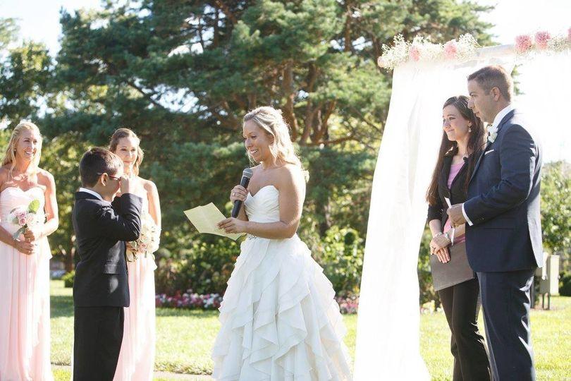 Bride speaking