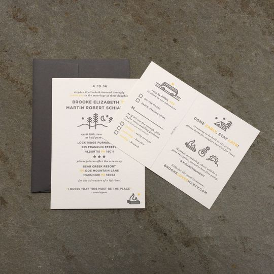 Custom Outdoor-themed Wedding Invitations
