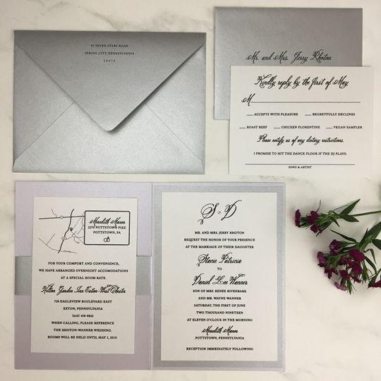 Silver and Black Invite