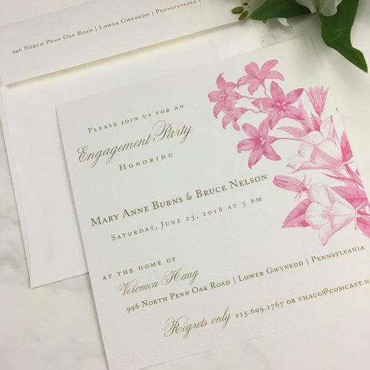 Summer Engagement Party Invite