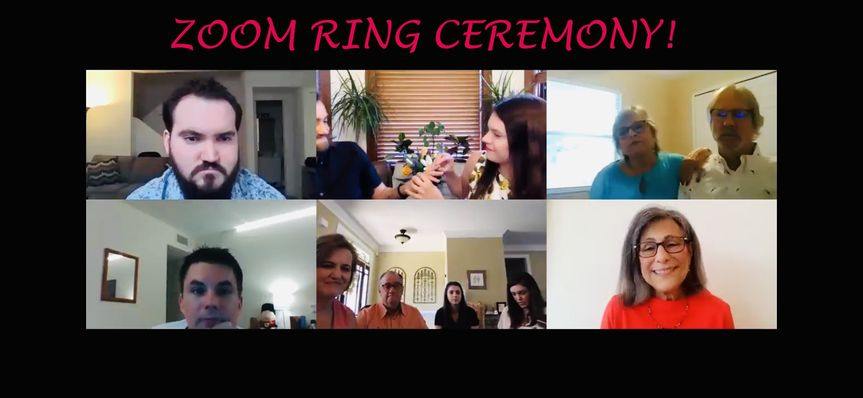 Zoom weddings work too!