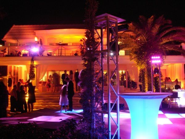 Wedding Dancefloor Lighting @ Private Residence