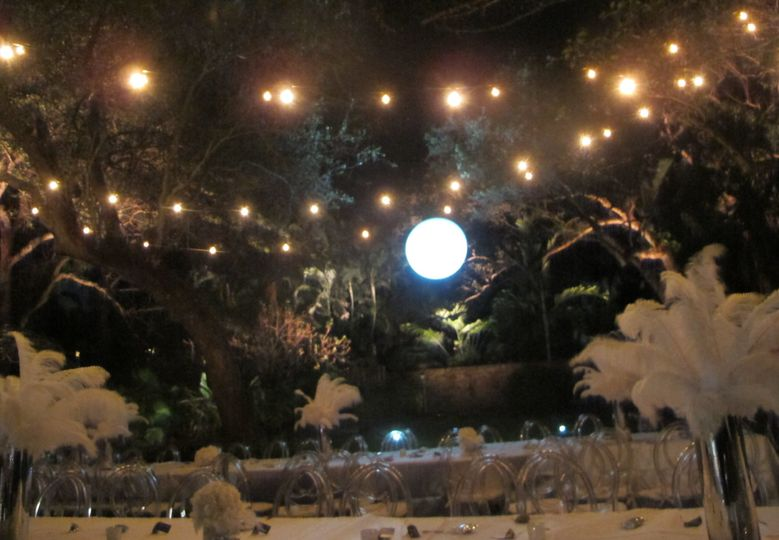 Decoration Lighting with Vintage-style Globe Lamps and Cloudbuster Sphere | Miami, FL
