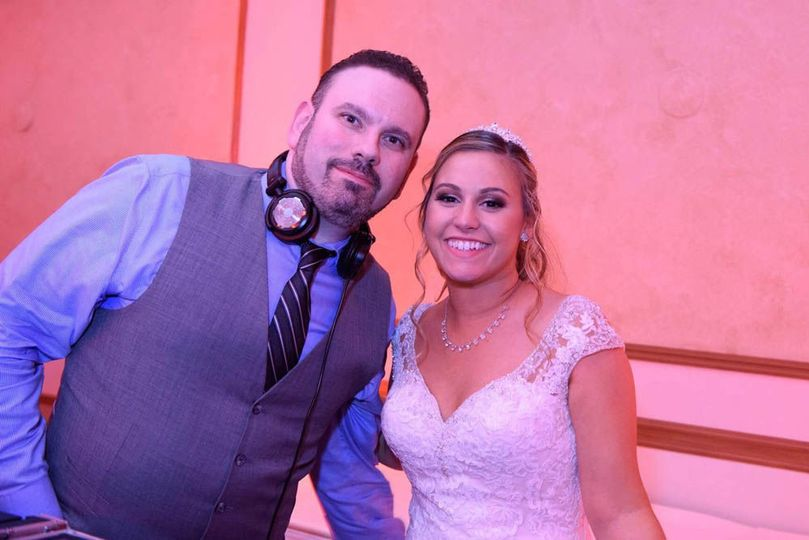 The bride with Paris Creative dj