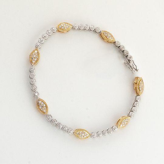 bb215 two tone diamond bracele