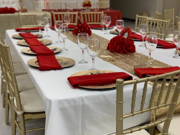 Table, Linen and Dinnerware