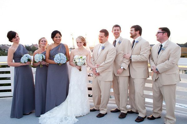 The bride and groom with guests