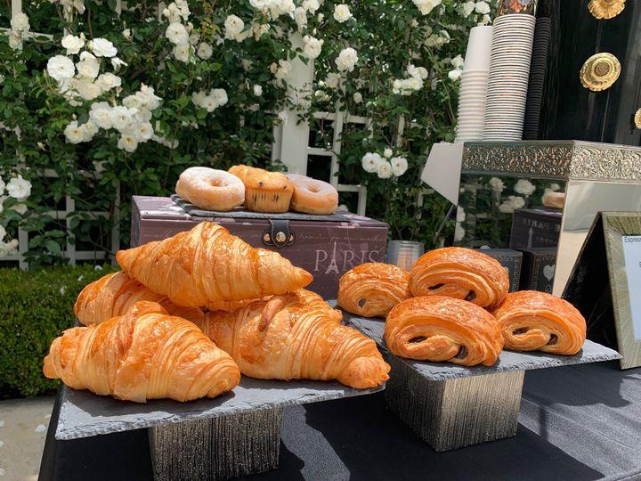 Assortment of fresh pastries