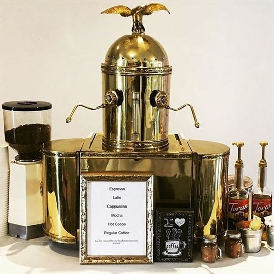 Gold coffee station
