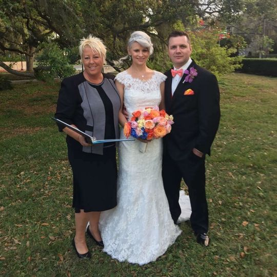 Officiant with the lovely pair