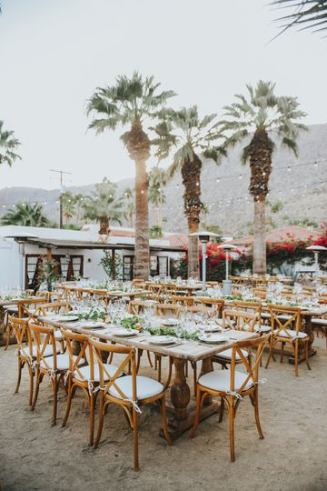 Outdoor reception setup | Photo Credit: Jenny Smith & Co.