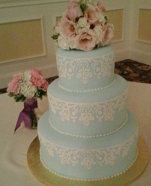 Blue colored cake