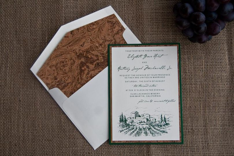 Winery invitation