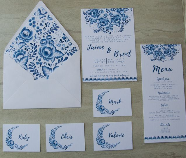 Rehearsal dinner stationery