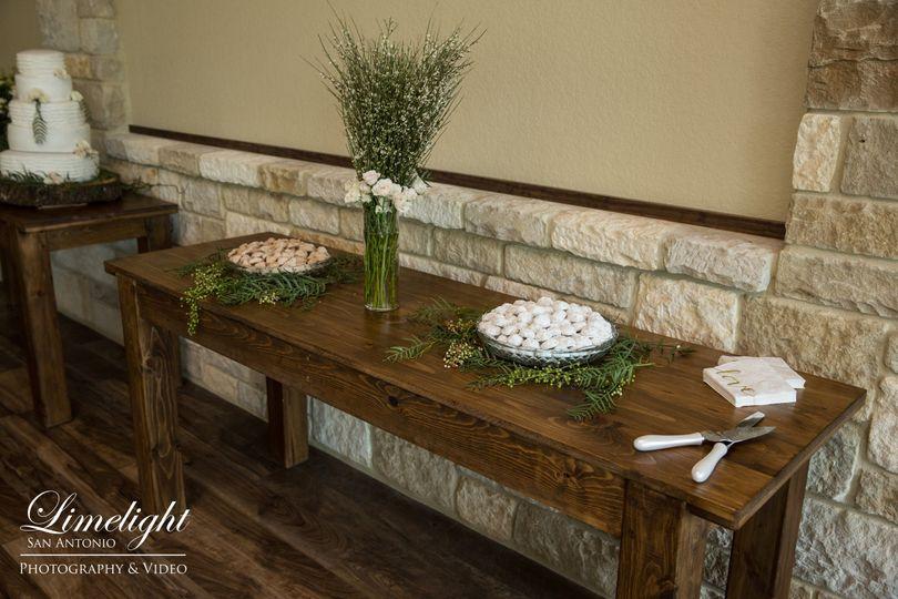 reception parson table