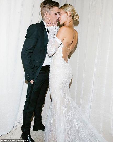 Custom-altered wedding gown